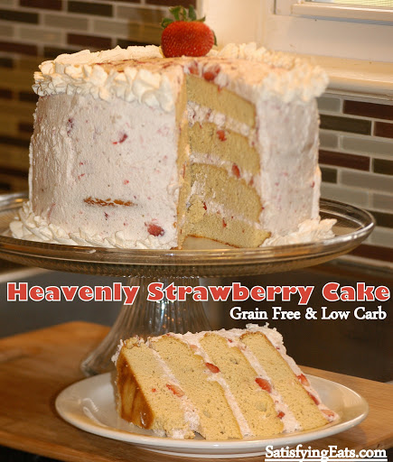 Heavenly Strawberry Cake GrainFree and LowCarb