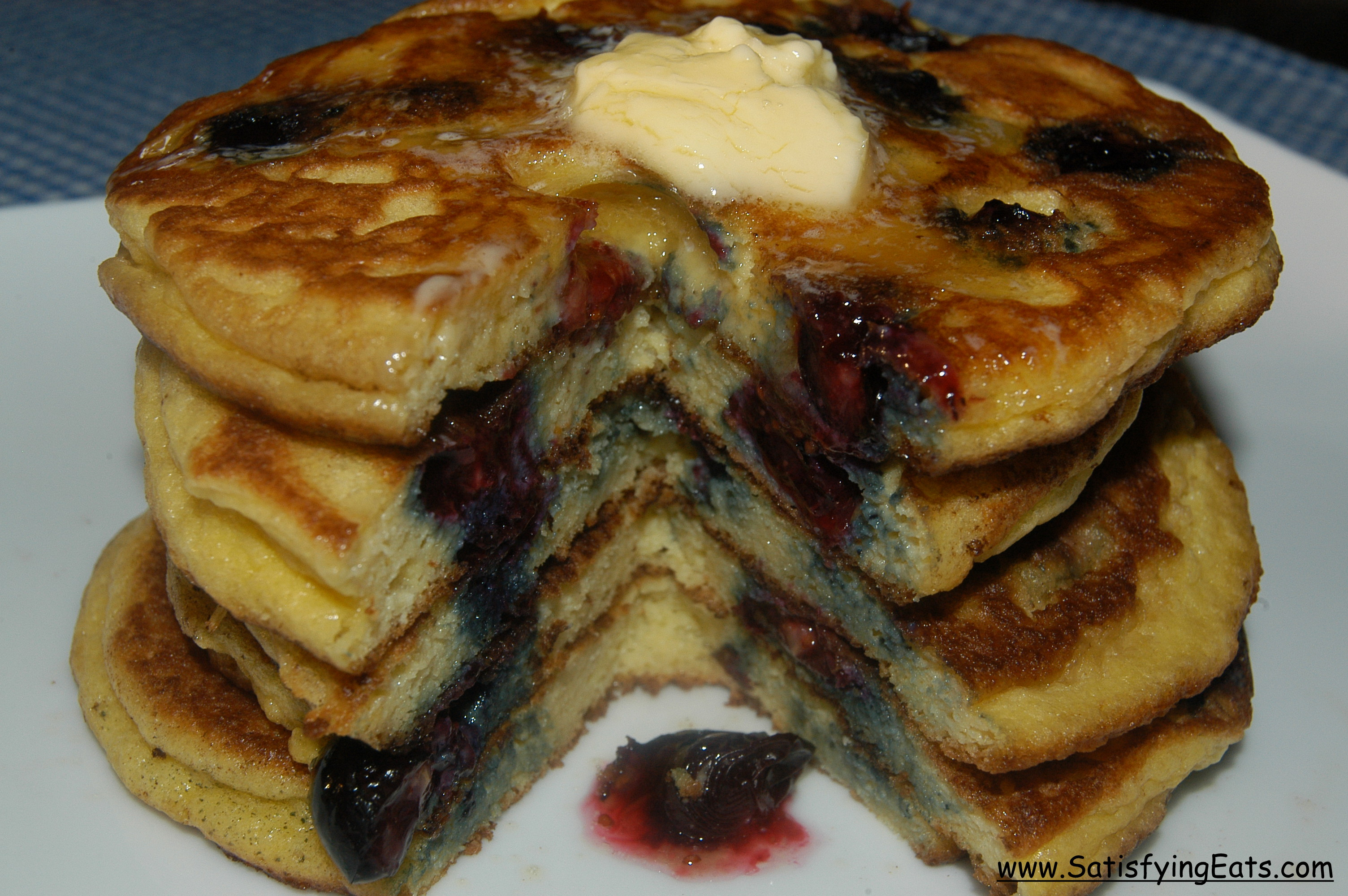 Fluffy Blueberry & Buttermilk Pancakes or Waffles (Grain ...