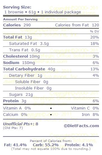 little debbie nutrition