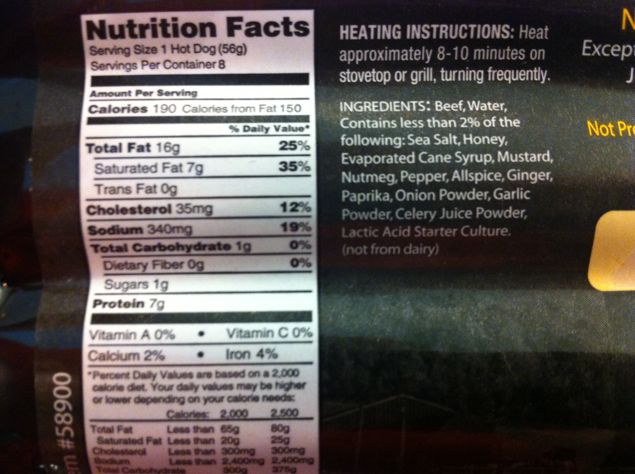 nathans hot dog ingredients