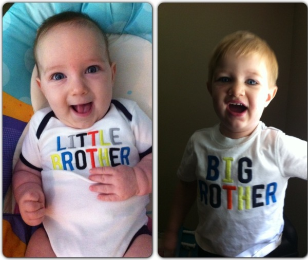 Connor 3 months and Hunter 2 years old